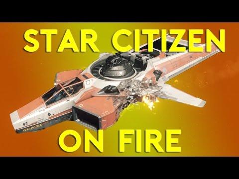 Star Citizen Alpha 2.6.1 | SHIP ON FIRE  | Part 374 (Star Citizen 2017 PC Gameplay)