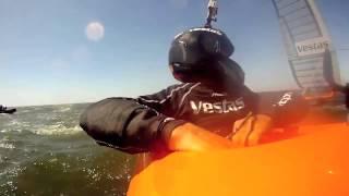 Record de vitesse à la voile : à 65,45 noeuds, à bord de Vestas Sailrocket 2 !
