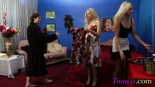 Crossdressing Movie : Man forced to wear wife clothes