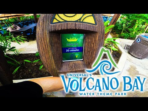 Volcano Bay post opening walthrough and construction update, plus Aventura