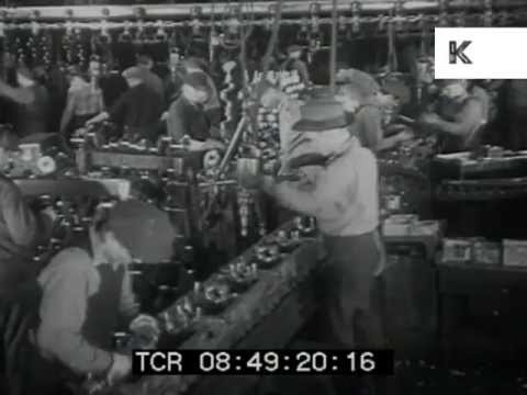 1930s Detroit Car Factory, Production Lines, Manufacturing