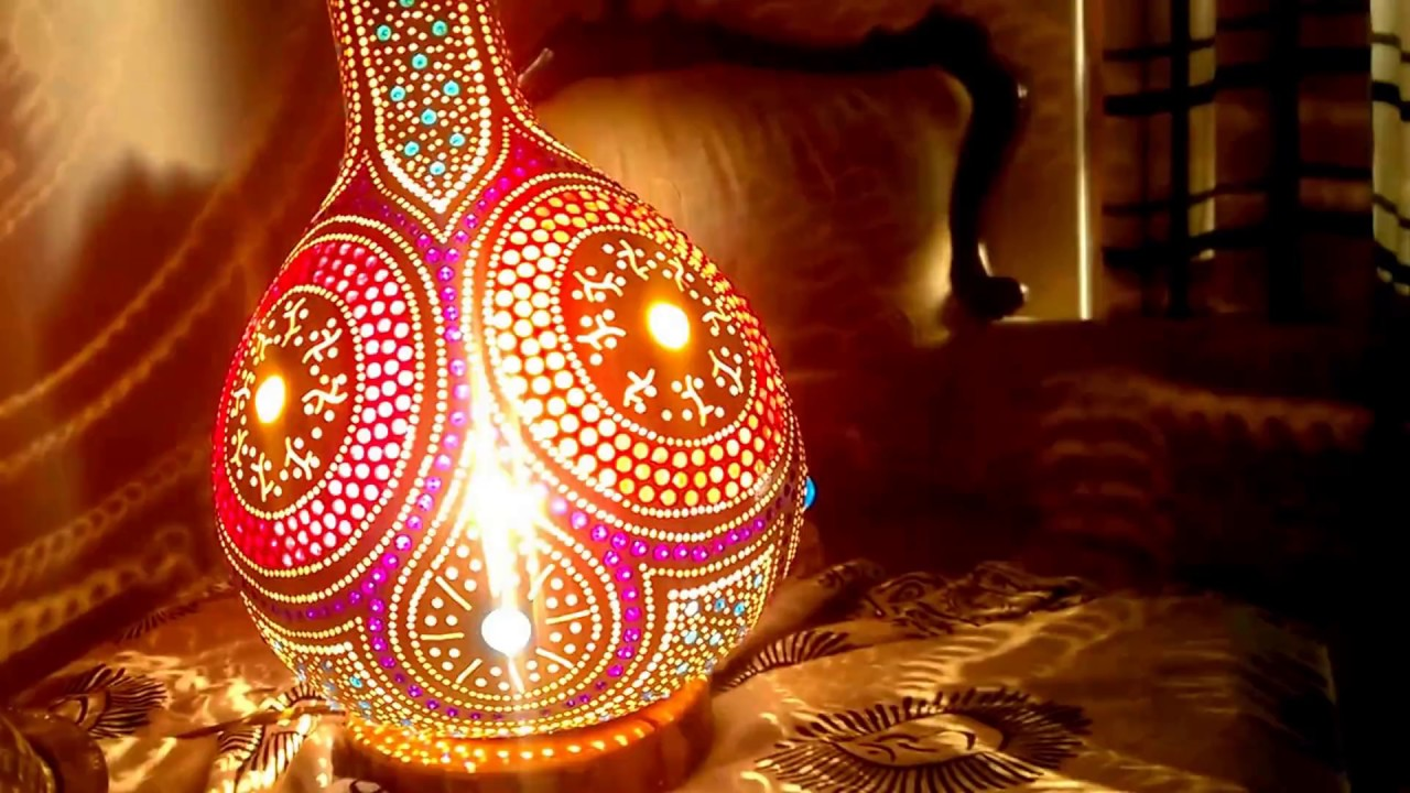 bohemian lighting. 2016 The Wicked Bohemian Handmade Gourd Lamp Home Decor Lighting E