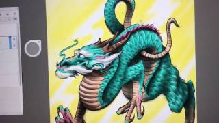 How to Draw Asian Style Dragon - Tattoo Style