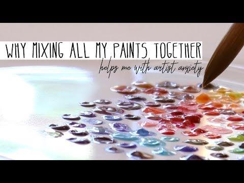 Mixing 120 Watercolor Paints - What Happens?