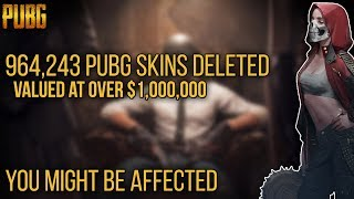 PUBG News | 964,243 PUBG Skins Valued At Over $1,000,000 Have Been Deleted | You Might Be Affected
