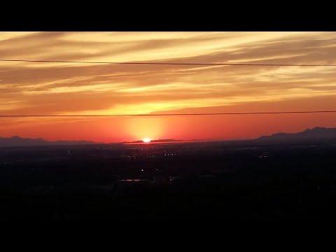 Самый красивый закат солнца в США. Штат Юта один из самых лучших в Америке.