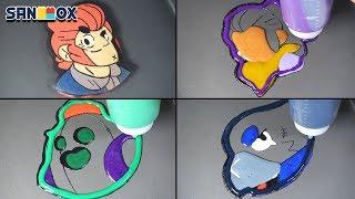 Brawl Stars Pancake art - Colt, Shelly, Spike, Crow