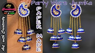 Party ware JHUMKA | Paper made | Art with Creativity 163