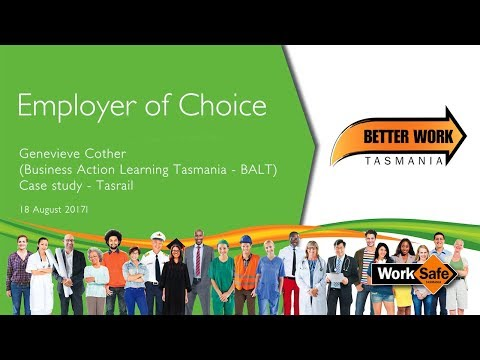 Genevieve Cother ( Business Action Learning Tasmania - BALT) Case study - Tasrail (Vanessa Sullivan)