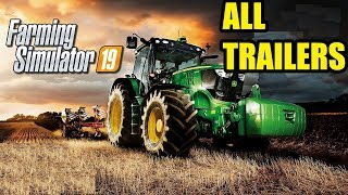 Farming Simulator 19 |  ALL OFFICIAL TRAILER !!