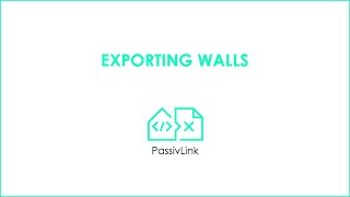 1 Revit to PHPP PassivLink: Wall Export