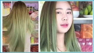 ทำสีบลอนด์เขียวหม่น blonde green gray