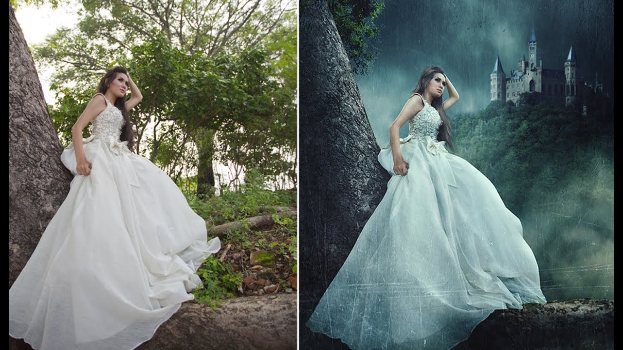 Couple Fall Wallpaper Photoshop Manipulation Effects Tutorial Lonely Princess