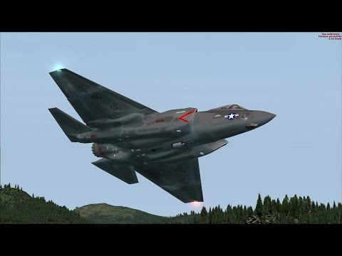 FSX F-35 VR-1251 Low Level Flight over Northern California [AMAZING REALISM+EXTREME GRAPHICS]