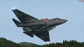 FSX F-35 VR-1251 Low Level Flight over Northern California [AMAZING REALISM+GRAPHICS]