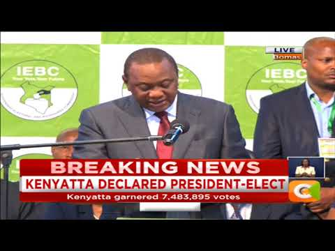 President Uhuru Kenyatta's speech after declared winner of repeat election