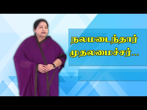 CM J Jayalalithaa's health turns to be Fine | Polimer News