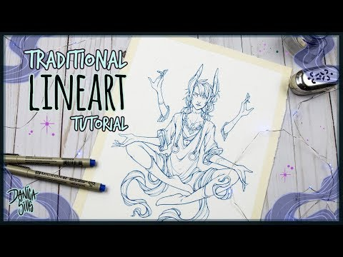 Traditional Lineart Tutorial •  Amunet • Micron Pen Inking