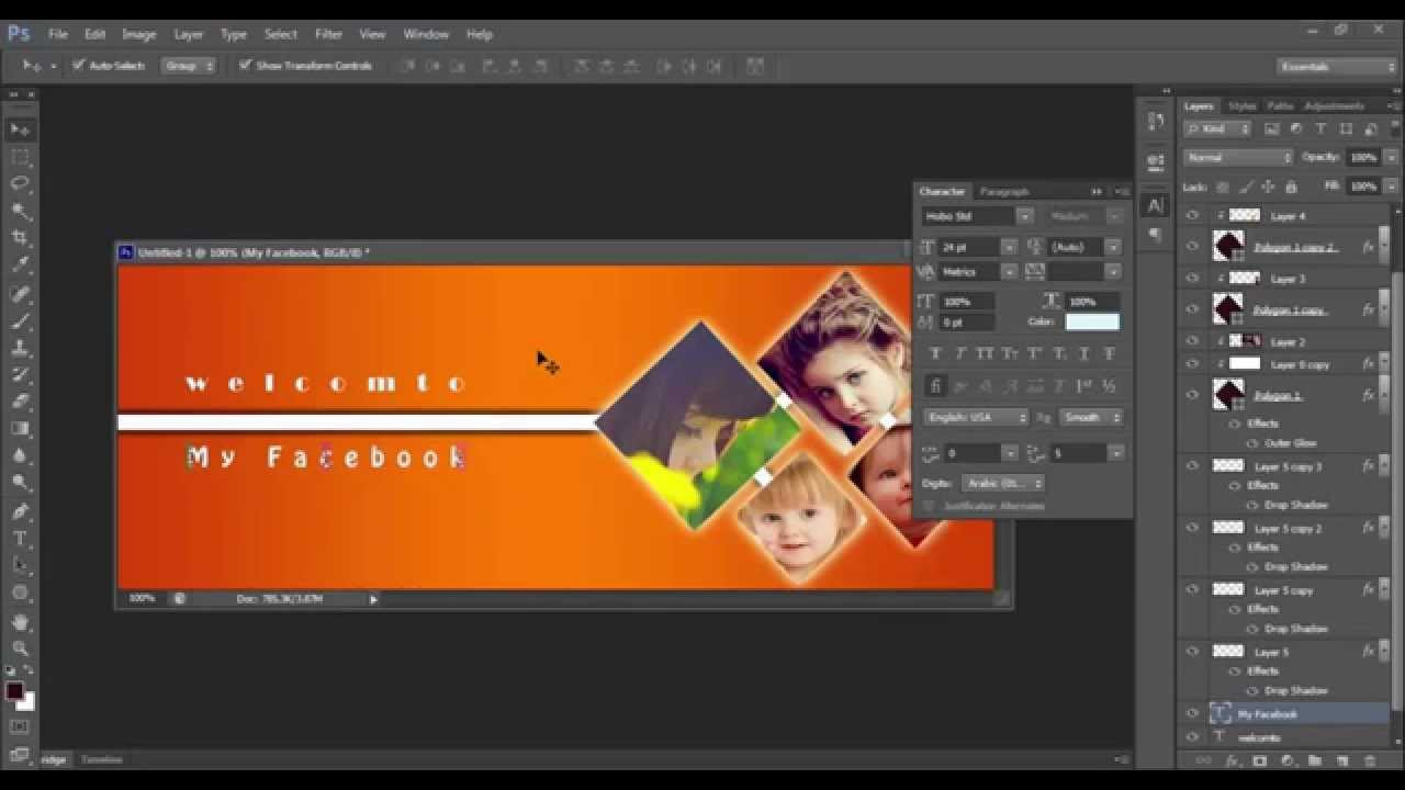 How to make a Facebook Cover in Photoshop