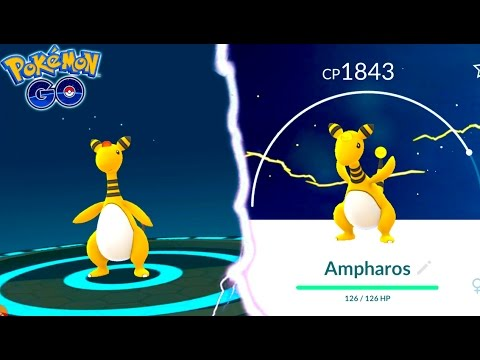 EVOLVING TO AMPHAROS IN POKEMON GO! One of the RAREST GENERATION 2 POKEMON NOW IN THE DEX!