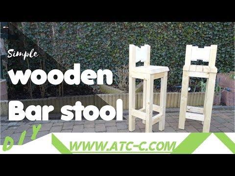 Simple Wooden Bar Stool // DIY