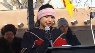 2018 Santa Fe New Mexico Women's March - Santa Fe Community College Laura Lopez