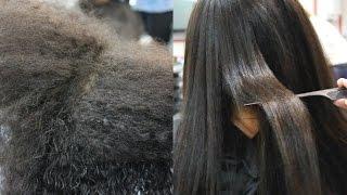 видео Профессиональное выпрямление волос Часть 4