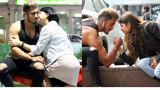 Arm wrestling with hot girl's for ki$$😘 with a twist || Sam Khan