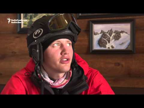 Skiing On One Leg: The Popular Rescuer in Kazakhstan