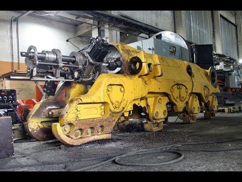 Восстановление телеги гусеничного бульдозера Komatsu D375A 5