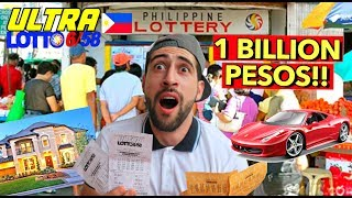 Winning 1 BILLION PESOS 6/58 ULTRA Lotto in the Philippines! 😱🇵🇭