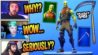 STREAMERS REACT TO *NEW* BRAINIAC SKIN! (ZOMBIE TFUE) & OG SCYTHE PICKAXE COMING BACK! Fortnite BR