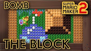 Super Mario Maker 2 - 9 Cool Link Bomb Puzzles in One Level