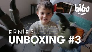 Ernie Unboxes a Velociraptor! #3 | Unboxing | HiHo Kids