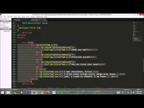 How to add tabs in angularjs app? | Tutorial AngularJS Tabs