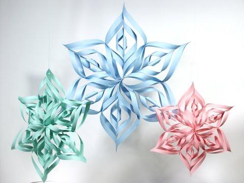 Diy 3d Frozen Paper Snowflake Kids Crafts Easy Diy Decoration