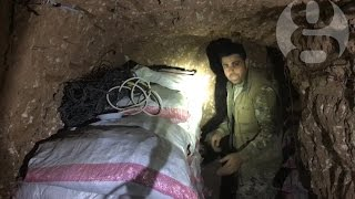 Inside a captured Isis sniper tunnel near Mosul