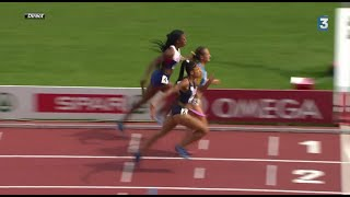Finish INCROYABLE - France relais 4x400m Femme Championnat d