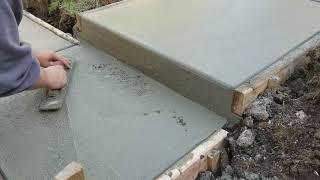 How to pour concrete steps /wet face concrete steps