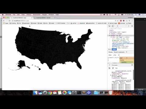 Making A Map Of The United States With D3, Topojson, And A Csv