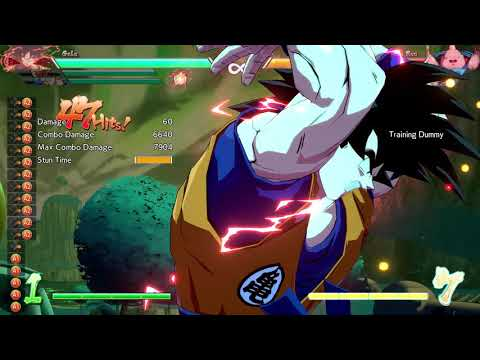 Goku(SS) tod with with spirit bomb dhc
