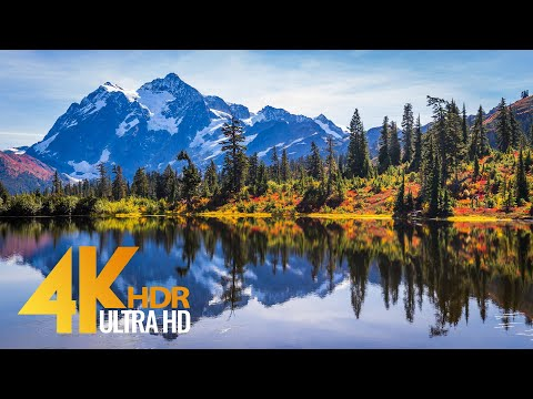 Mt. Shuksan, Fall in the North Cascades, WA State - 4K HDR Short Relaxation Video