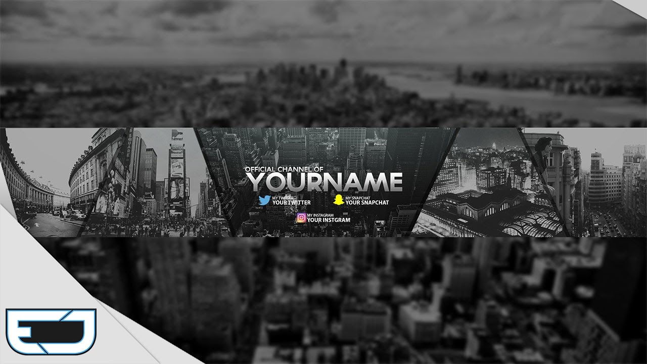 Free Gfx City Landscape Youtube Banner Template Youtube