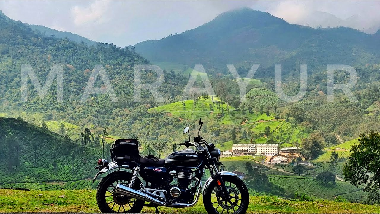 Munnar to Marayur Ride on Honda CB350 - Scenic route via beautiful tea plantations