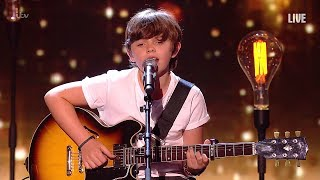 Jack and Tim in the Britain's Got Talent final, performing their ow...