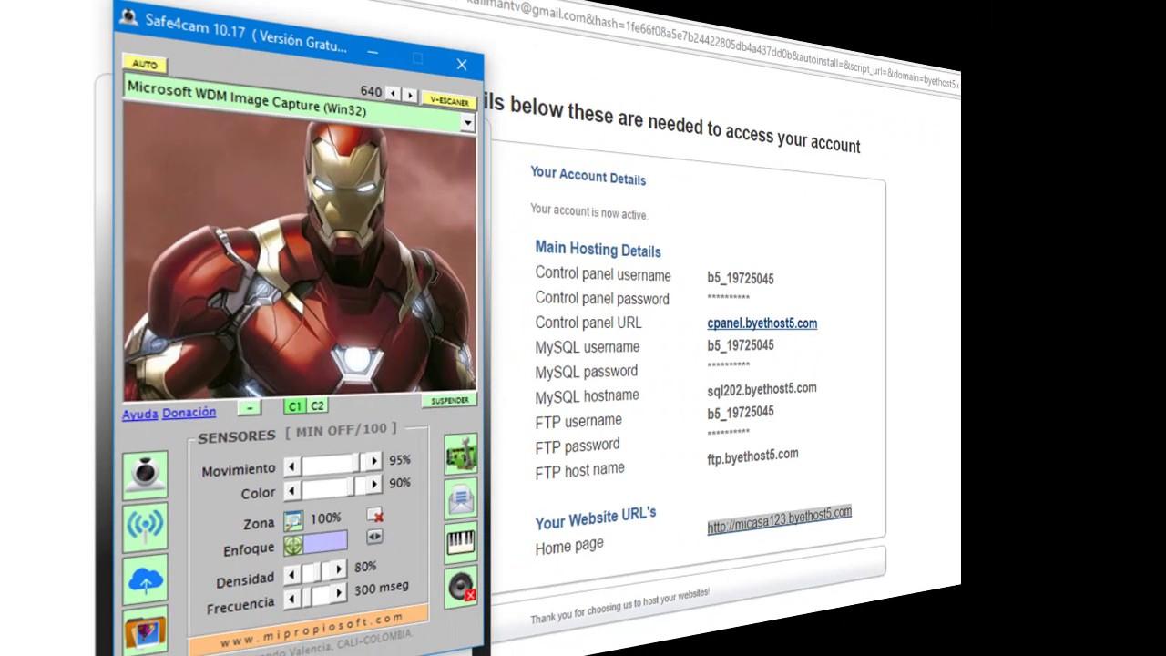 C mo crear p gina web gratis para videovigilancia por Crear website