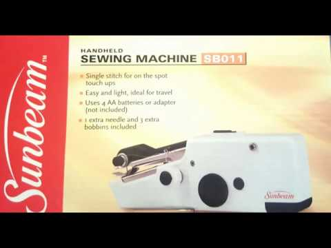 handheld sewing machine instruction manual sbo11 sb022 youtube rh youtube com Sunbeam Mini Sewing Machine Sunbeam SB1800 Manual