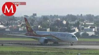 Tras suspensión por coronavirus, llega último vuelo de China a Tijuana