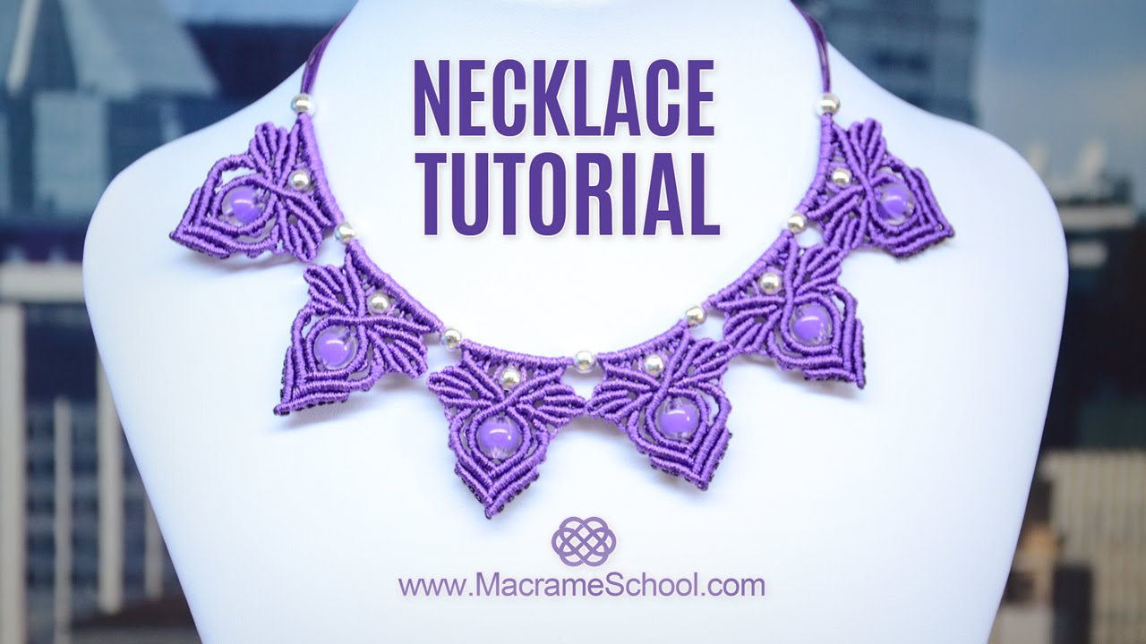 51e8da69c2b0 Frozen Elsa Macramé Necklace Tutorial by Macrame School