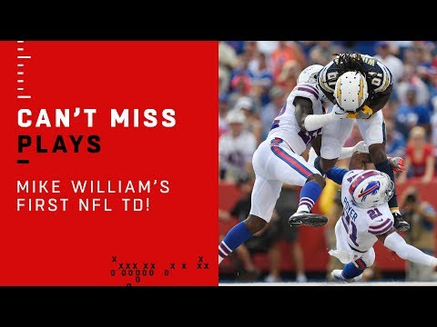 Mike Williams' 1st Career TD After Virgil Green's Vicious Stiff Arm!